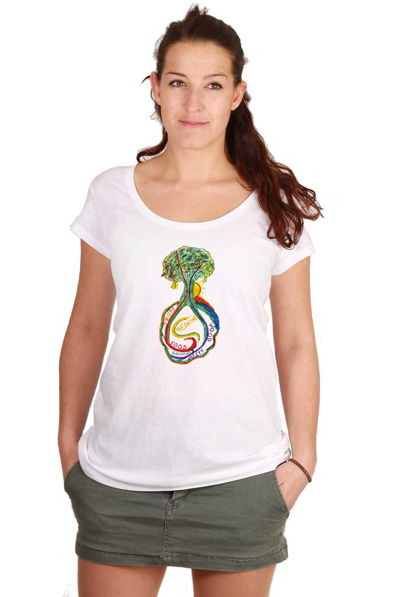 Psychedelic-Tree: Girl Shirt // Organic
