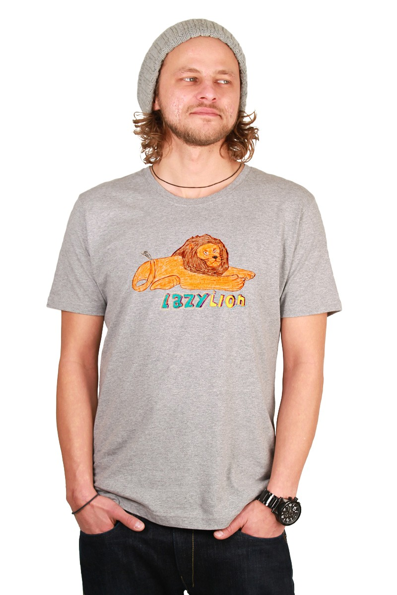 Lazy Lion: Men Shirt // Organic