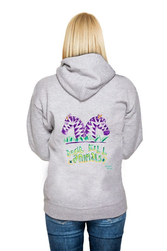 Don´t kill animals: Girl Hoodie