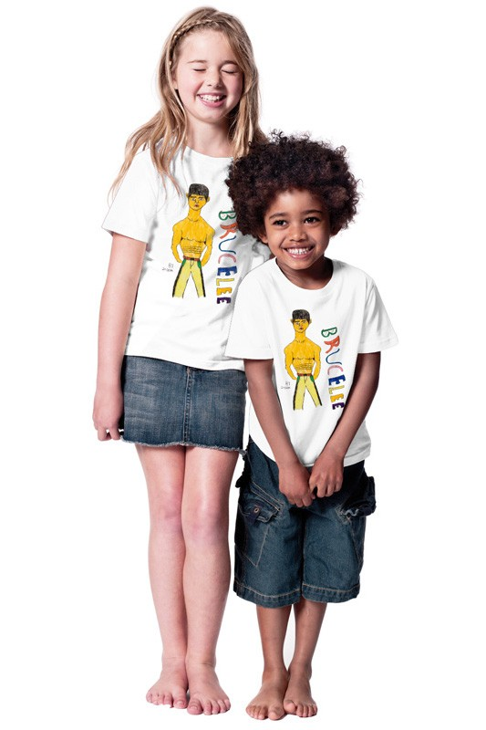 Bruce Lee: Kids Shirt // Organic