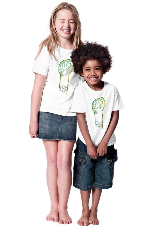 Eco-Fist: Kids Shirt // Organic