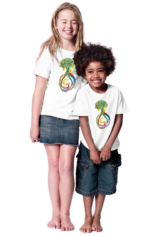 Psychedelic-Tree: Kids Shirt // Organic