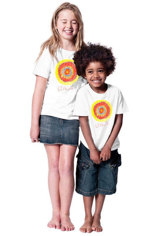 Indian Sun: Kids Shirt // Organic