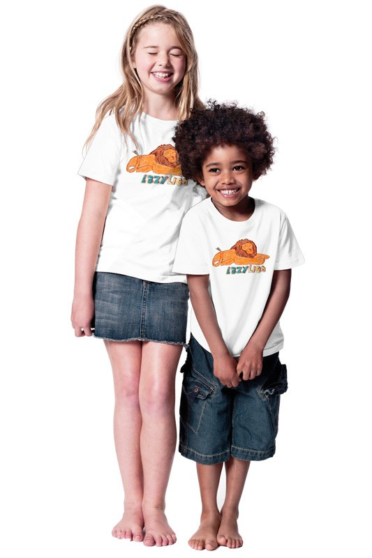 Lazy Lion: Kids Shirt // Organic