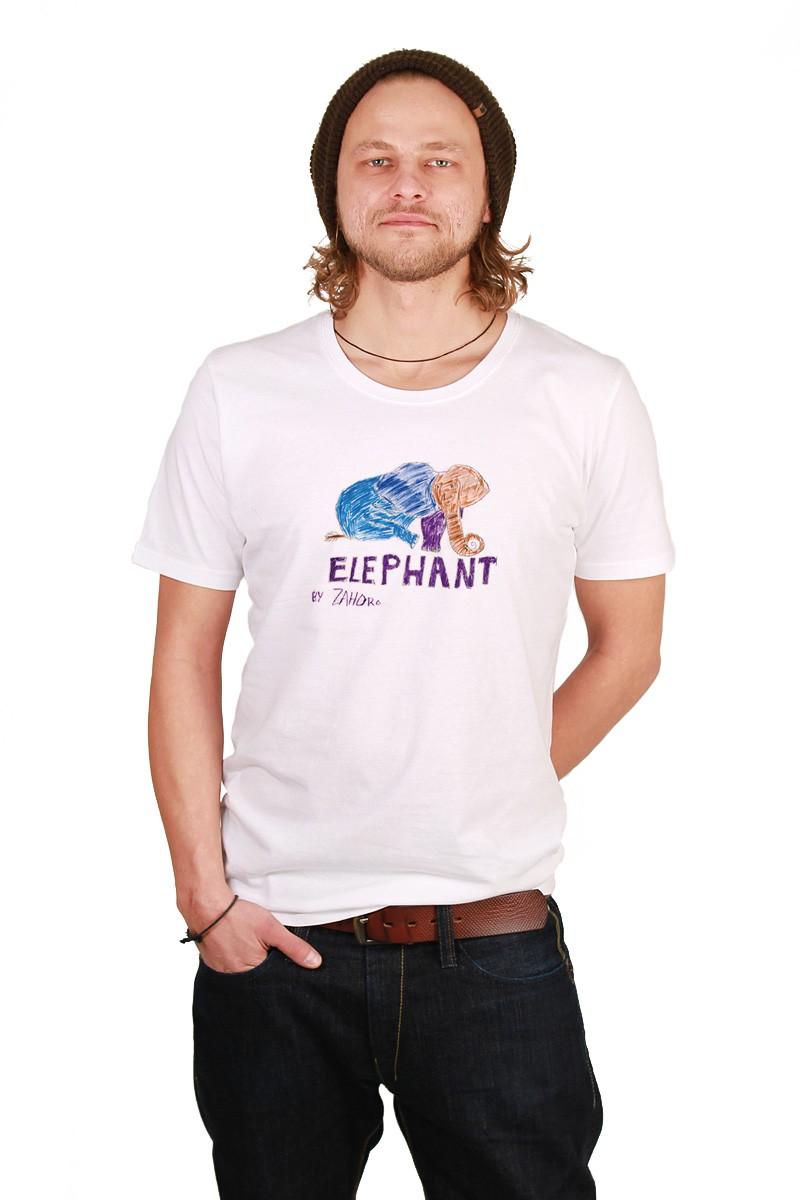 Violett Elephant: Men Shirt // Organic