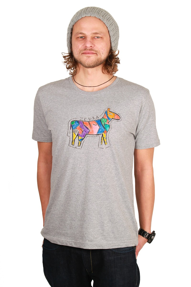 Zebra: Men Shirt // Organic